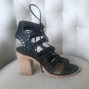 Black Dolce Vita Wood Heels